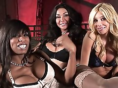 Amazing tgirl Kimber getting banged by Vaniity & Natassia