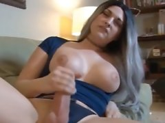 Watch Bailey Stroke Her Huge Hung Cock Until She Cums