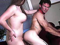 Horny Tiffany mouth & assfucks a guy