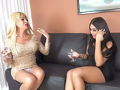 Two Mexican Trannies sucking and fucking each other