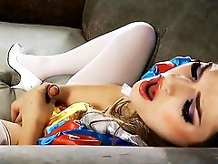 Dirty snow white Tiffany toying and masturbating