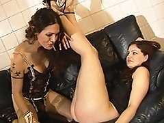 Amazing tgirl Nikki spanking and playing with Dulcie's sweet ass