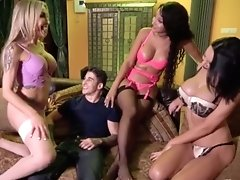 Eva Gets Her Hands on so Many Cocks in this Hot Foursome with Her Hot Horny Friends