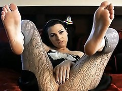 Gorgeous Bailey Jay posing in sexy pantyhose