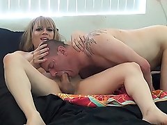 Horny Jesse spreads & toys her fan