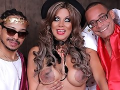 Naomi Chi - Halloween Threesome Treat