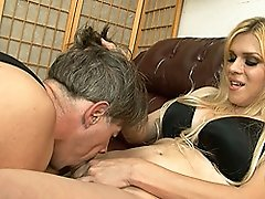 Naughty transsexual demands a blowjob
